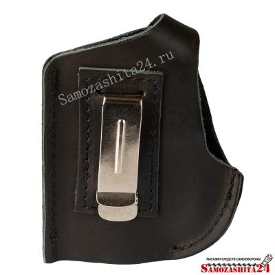 Кобура поясная для аэрозольного пистолета (устройства) Пионер с металлической клипсой